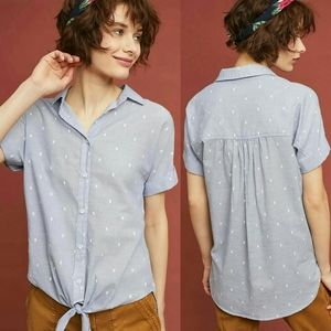 Anthropologie Clip-Dot Buttondown by Cloth & Stone